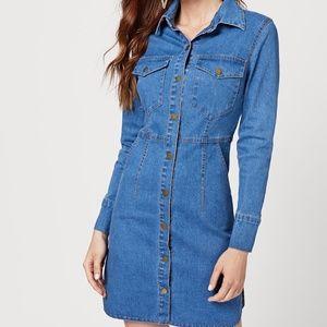Denim - NWT Single Breasted Denim Dress